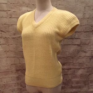 CHAUS Medium Yellow Sweater Vest V-neck NEW